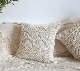 Pillow Cover Makramee Kissenbezug