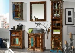 Badmöbel NATURE OF SPIRIT BAD komplett Indisches Altholz Vintage mehrfarbig lackiert vollmassiv Badezimmer