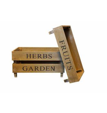 Home affaire Kiste »Fruit Herbs Garden« (Set, 3)