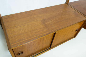 Original vintage teak regal desk danish design 50s 60s 70s teakholz cado string