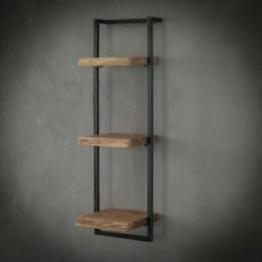 Wandregal, Regal, Wandboard, Edge, Baumkante, Massivholz, 3x 30cm