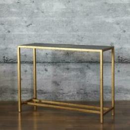 Konsolentisch DUR, Antik-Finish gold Eisen Anrichte Shabby Konsole Beistelltisch