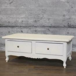 Lowboard DUN, Massivholz TV-Tisch Board Nachttisch weiß Antik-Finish Blumentisch