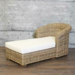Chaiselongue MUH edles Rattan Recamiere Longchair XXL Sessel Relaxliege Sofa