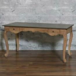 Schreibtisch KNIN, massiv Mangoholz Esstisch 150cm braun Sekretär Antik Design