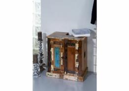 Waschbeckenunterschrank Altholz 66x43x60 mehrfarbig lackiert NATURE OF SPIRIT BAD #101