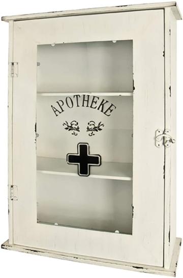 Medizinschrank - Metall antik weiß