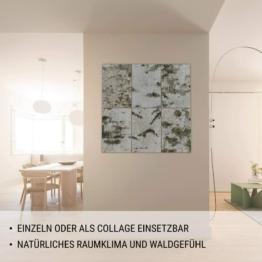 MOYA Wald Wanddeko aus Birkenrinde auf Holz