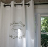 Vorhang Elegance Weiss ÖSEN Gardine 120x240 cm 2 Stück Baumwolle Landhaus Vintage