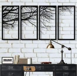 Metall-Wandkunst, Baum des Lebens 4 Paneele  (120 x 60 cm)