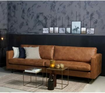 3 Sitzer Sofa Rodeo Classic Echtleder Vintage, Industrial