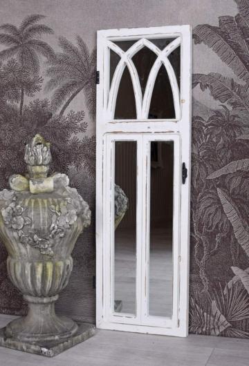 Wandspiegel Shabby Chic Spiegel Fensterspiegel 115cm