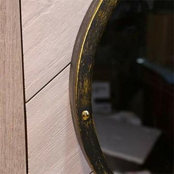 Rasierspiegel, Vintage Industrial Style, Wandspiegel rund -