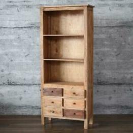 Regal KLEK Schrank, massiv Mahagoni recycelt Bücherschrank Shabby Standregal