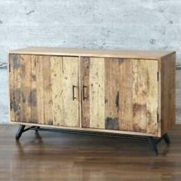 Sideboard Pomer, massiv edles Mangoholz 130cm Anrichte Shabby-Stil Anrichte