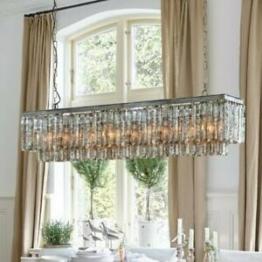 Hängelampe GLIS, Designlampe Glas-Prismen Antik-Finish Deckenleuchte Pendel