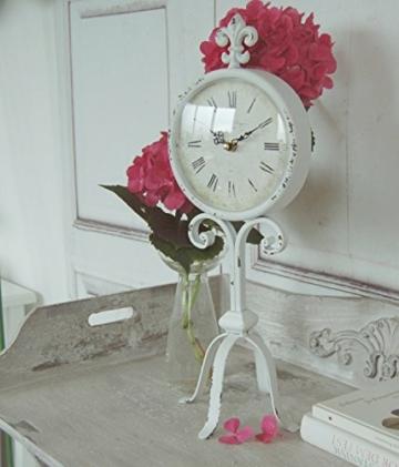 Uhr Lilie, Antique Shabby Chic Landhausstil, Tischuhr -