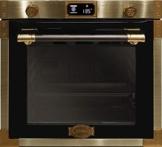 Kaiser EH 6426 AD Art Deco, Retro Pyrolyse Einbaubackofen 60 cm, Backofen,80L , Metallleisten , Antique Gold