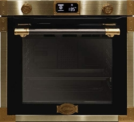 Kaiser EH 6426 AD Art Deco, Retro Pyrolyse Einbaubackofen 60 cm, Backofen,80L , Metallleisten , Antique Gold