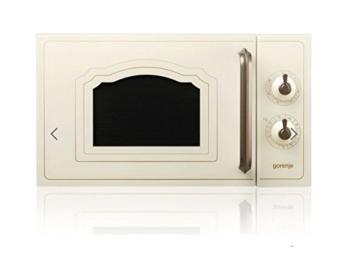 Gorenje MO 4250 CLI Stand-Mikrowelle mit Grillfunktion / 700 W / Garraum 20 L / elfenbein / Classico Collection -