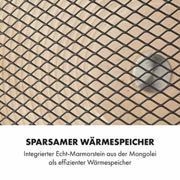 HeatPal Marble Blackline Infrarot-Heizung mit Thermostat – mobiles Heizgerät, Räume bis 30 m², Wärmespeicherfunktion, Marmorplatte -