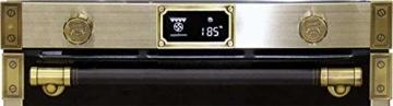 Kaiser EH 6426 AD Art Deco, Retro Pyrolyse Einbaubackofen 60 cm, Backofen,80L , Metallleisten , Antique Gold -