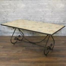 Tisch IARG, Mosaiktisch Gartentisch mediterran wetterfest Eisengestell outdoor