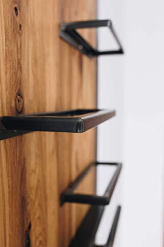 Weinregal aus Eiche und Stahl Wandregal  (Maße: Breite 60cm x Höhe 100xm x Tiefe 10cm) -
