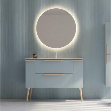 120 cm breiter Wandmontierter Waschtisch , skandinavisches Design
