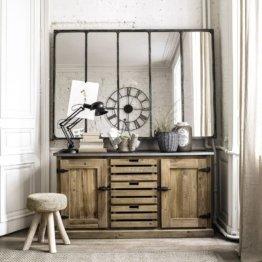 Spiegel im Industrial-Stil mit Metallrahmen, 180x124