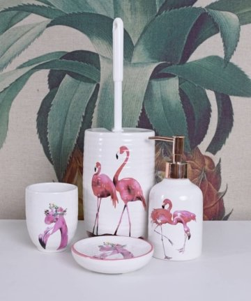 Badezimmer GARNITUR Flamingo