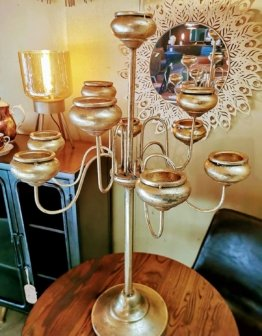 Kerzenständer Vintage Zanea Brass 10 Arme