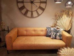 Ledersofa Bull 3 oder 4-Sitzer Cognac 210/260 (260 x 90 x 72 cm)