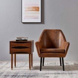 Mid-Century Modern Design Holz-Beistelltisch 40 x 40 x 61 cm