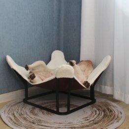 Hängematte für Katzen und kleine Hunde 33 cm H x 58 cm B x 58 cm T
