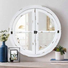 Runder Spiegel im Shabby-Look 70 cm