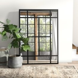 Spiegel im Fensterdesign Metall 140 cm H x 100 cm B