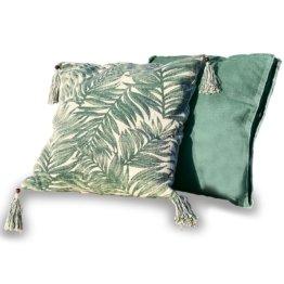 LOBERON Kissen 2er Set Leaves, grün