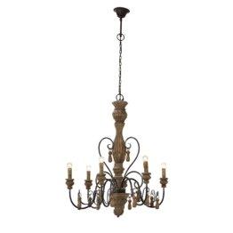 LOBERON Leuchter Lassigny, braun (42 x 42 x 60cm)