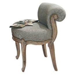 LOBERON Sessel Rivel, schwarz/creme (56 x 51 x 65cm)