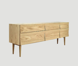 Muuto Soren Rose Sideboard Reflect Large Eiche Breite 179,5 cm