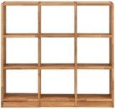 Premium collection by Home affaire Regalelement »Ecko«, aus schönem massivem Wildeichenholz, Breite 136 cm, mit 9 Fächern