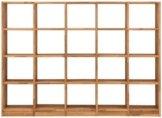 Premium collection by Home affaire Regalelement »Ecko«, aus schönem massivem Wildeichenholz, Breite 225 cm, mit 20 Fächern