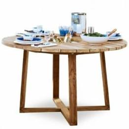 Tisch LAS Teaktisch inkl Flaschenkühler natürliche Maserung Gartentisch Esstisch