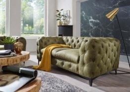 Sofa 2 Sitzer 185x97x73 grün CHELSEA #158