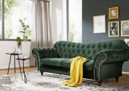 Sofa 230x90x84 dunkelgrün SHEFFIELD