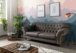Sofa 230x90x84 graubraun SHEFFIELD