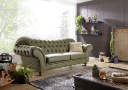Sofa 230x90x84 grün SHEFFIELD
