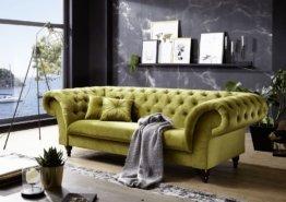 Sofa 234x92x82 grün PRESTON