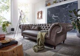 Sofa 3 Sitzer 234x92x82 graubraun PRESTON #125